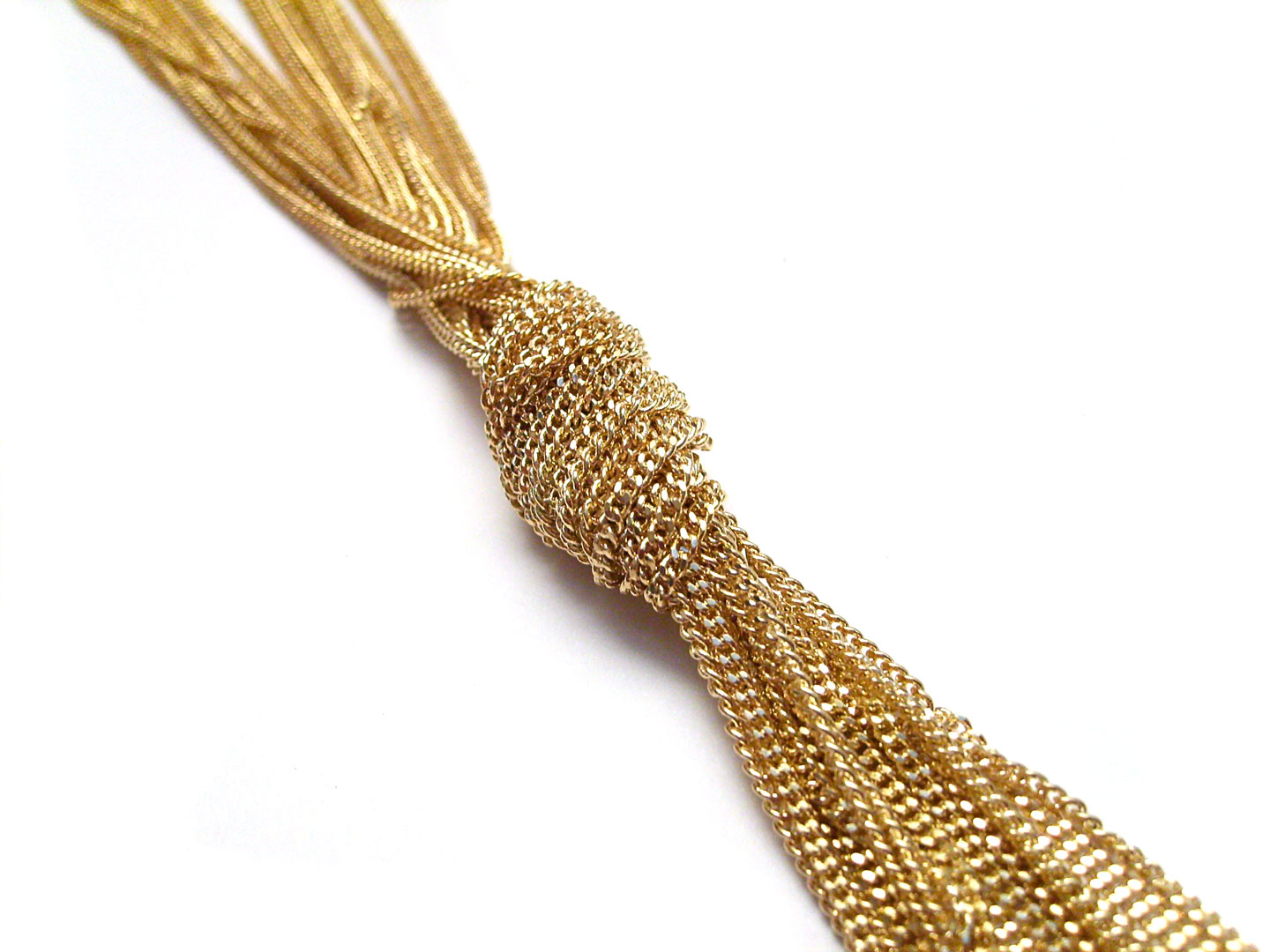 French Photographer Paris Studio Packshot Photography Long Gold Necklace