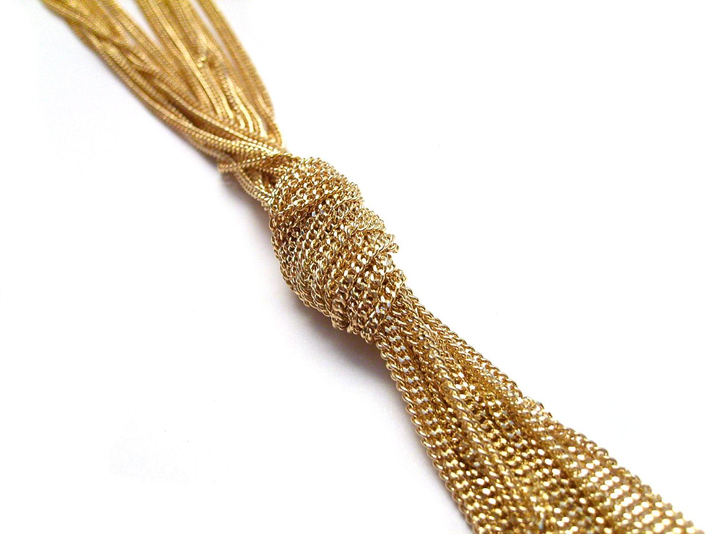 French Photographer Paris Studio Packshot Photography Long Gold Necklace