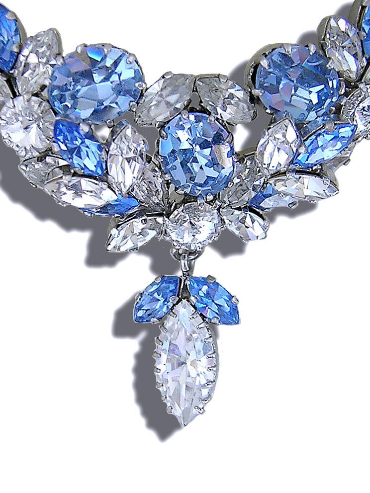 French Photographer Paris Studio Packshot Light Sapphire Swarovski Crystal Necklace