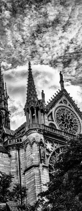 French Photographer Art Photography Paris / The spire of Notre-Dame de Paris