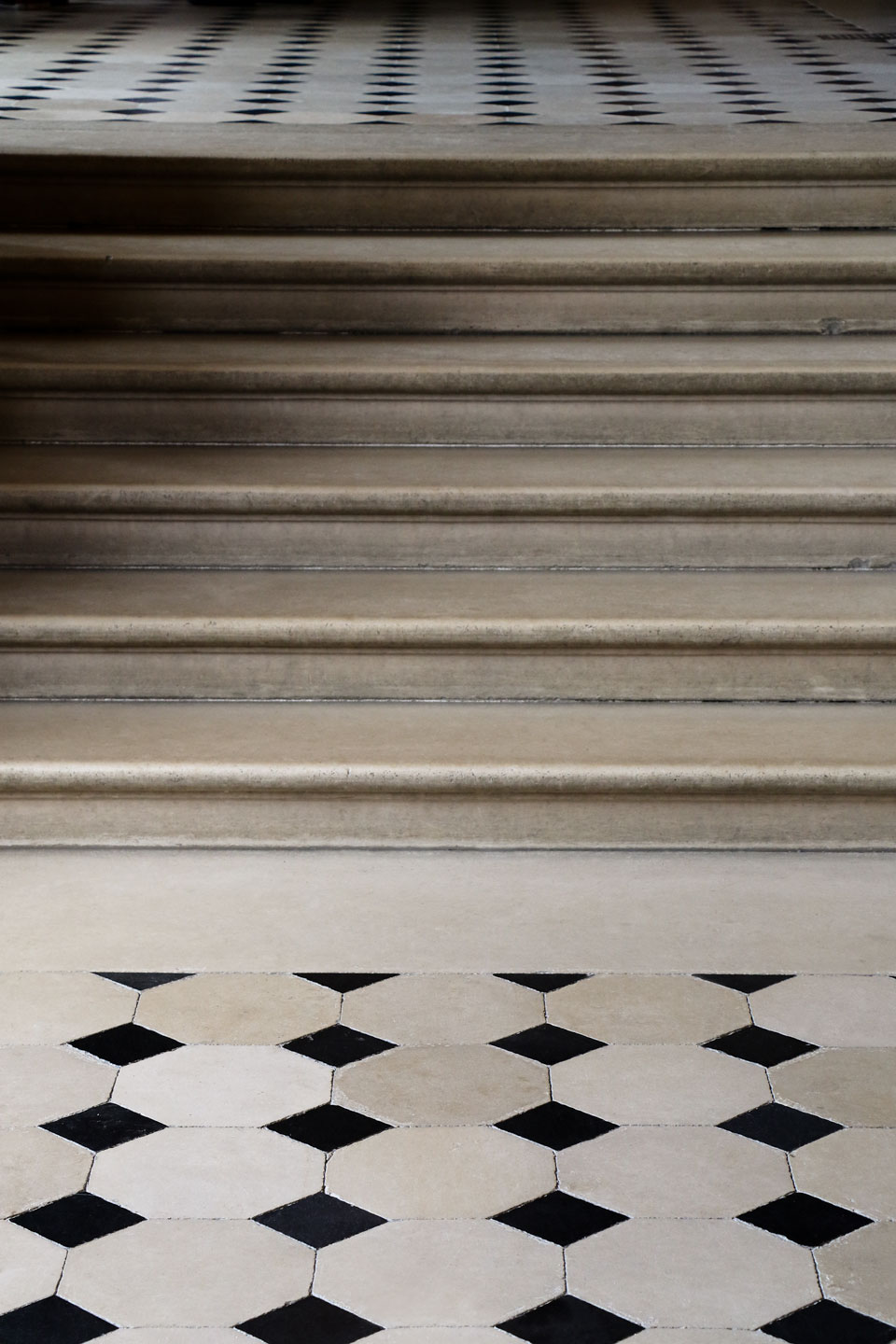 French Photographer Art Photography Black and White Marble Floor of the Palace of Fontainebleau
