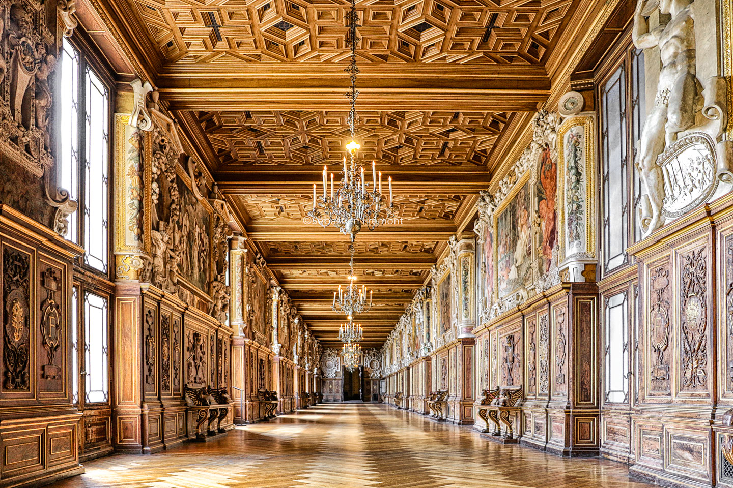 French Photographer Art Photography Palace of Fontainebleau / The Francis I Gallery