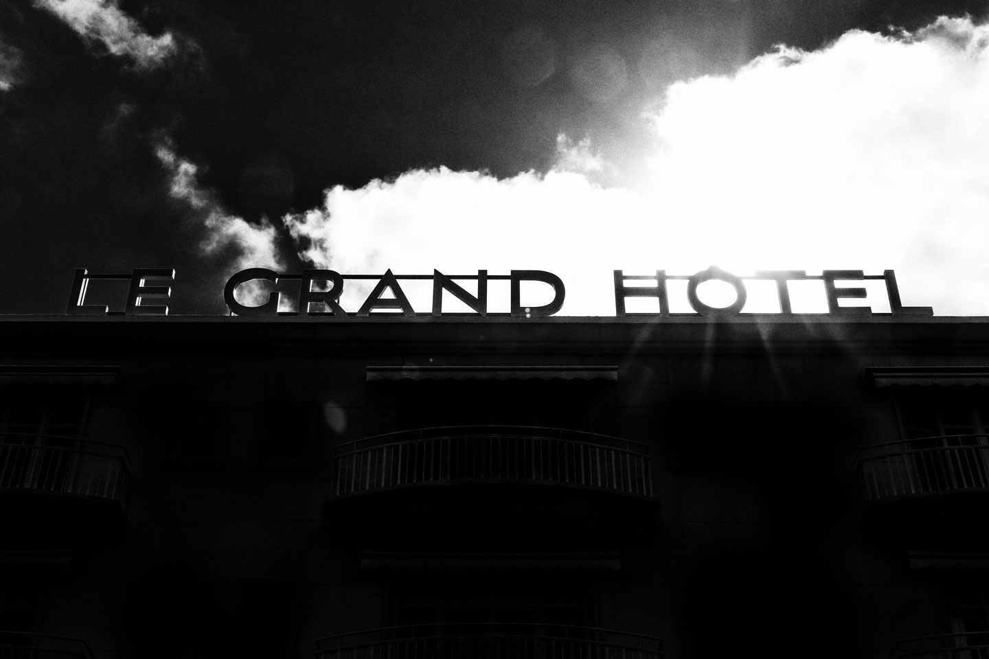 French Photographer Paris France Art Photography Le Grand Hôtel Sign