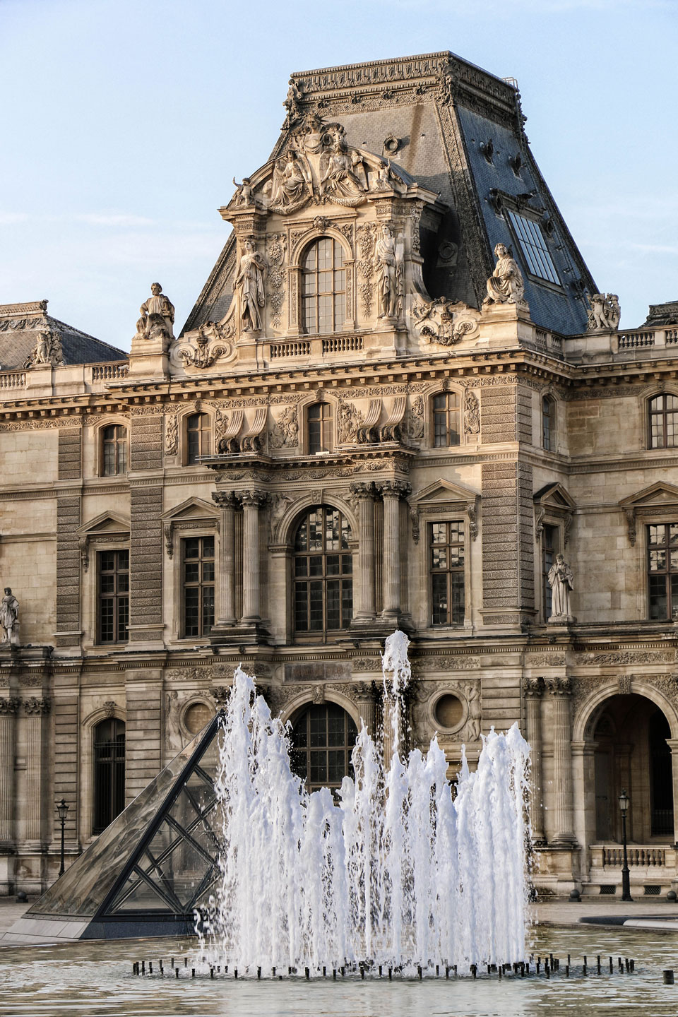 French Photographer Paris France Art Photography Fountain of the Louvre Museum