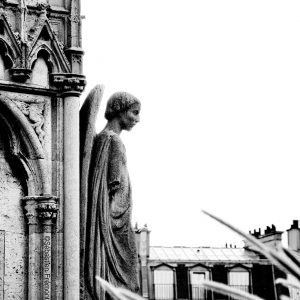 French Photographer Art Photography Paris / Fountain of the Virgin at Notre Dame Cathedral Paris France