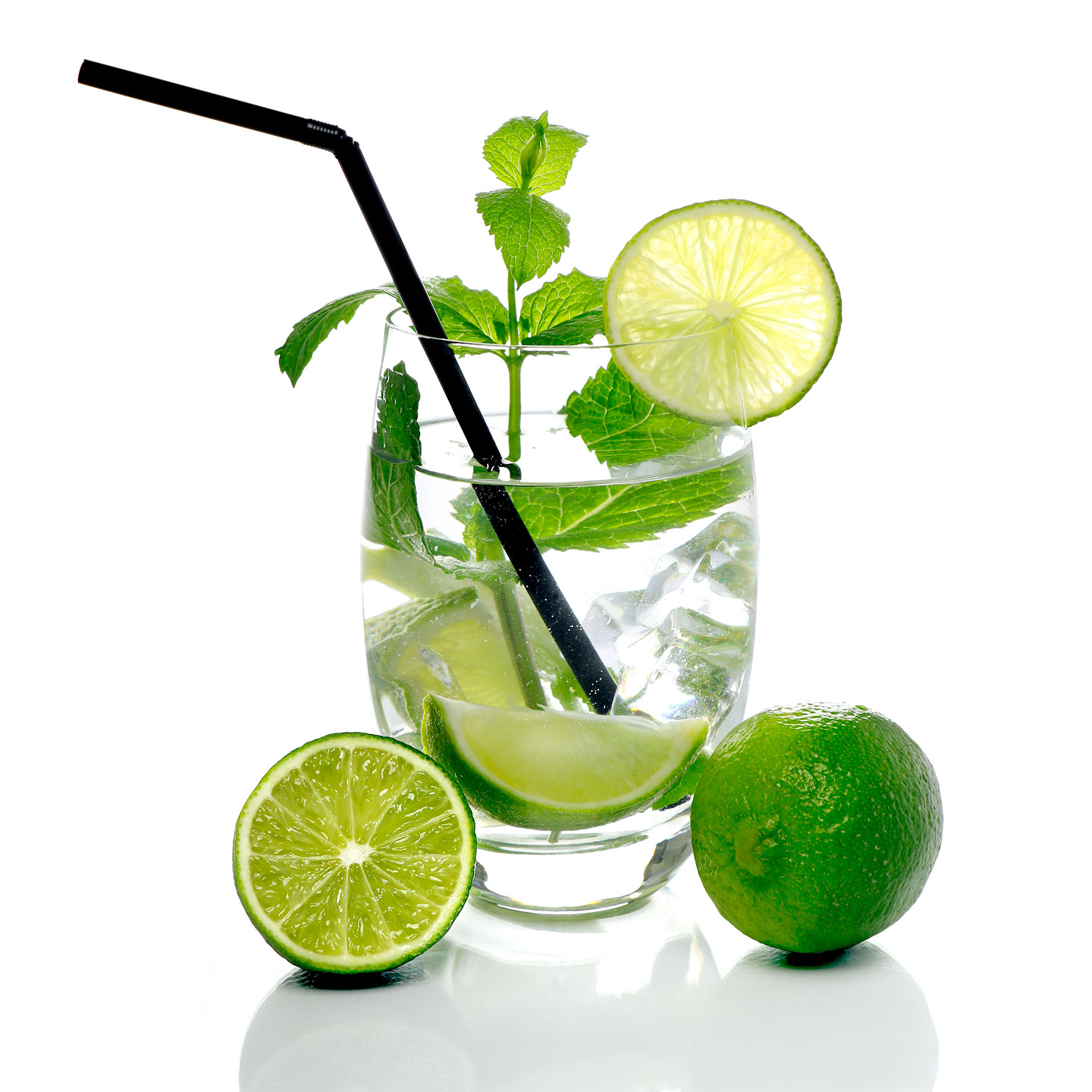 French Photographer Studio Food Photography Mojito Cocktail with Ice cubes
