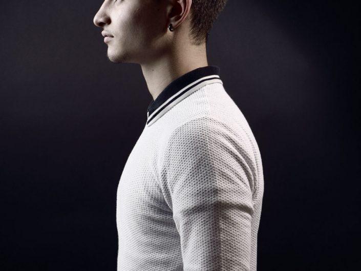 French Photographer Paris Studio Portrait Photography Male Portuguese Model