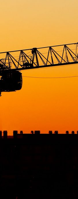 French Photographer Landscape Photography Tower Crane in the Sunset