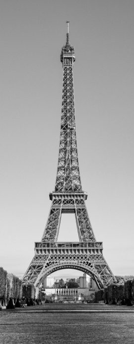 French Photographer Landscape Photography Eiffel Tower seen from Champs de Mars park
