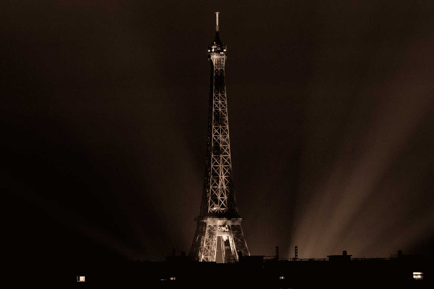 French Photographer Landscape Photography Eiffel Tower lit up for Bastille Day