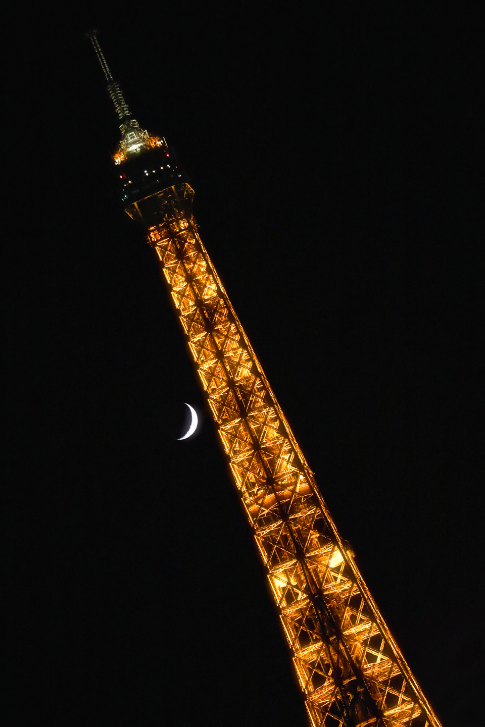 French Photographer Landscape Photography Eiffel tower with the moon