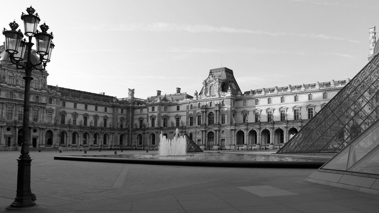 French Photographer Paris France Landscape Photography The Louvre museum and its pyramids