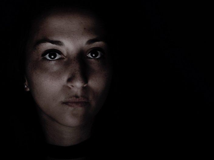 French Photographer Paris Studio Portrait Photography Dramatic Portrait of a Woman