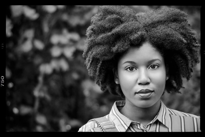 French Photographer Portrait Photography Afro Hair Model Test Shoot