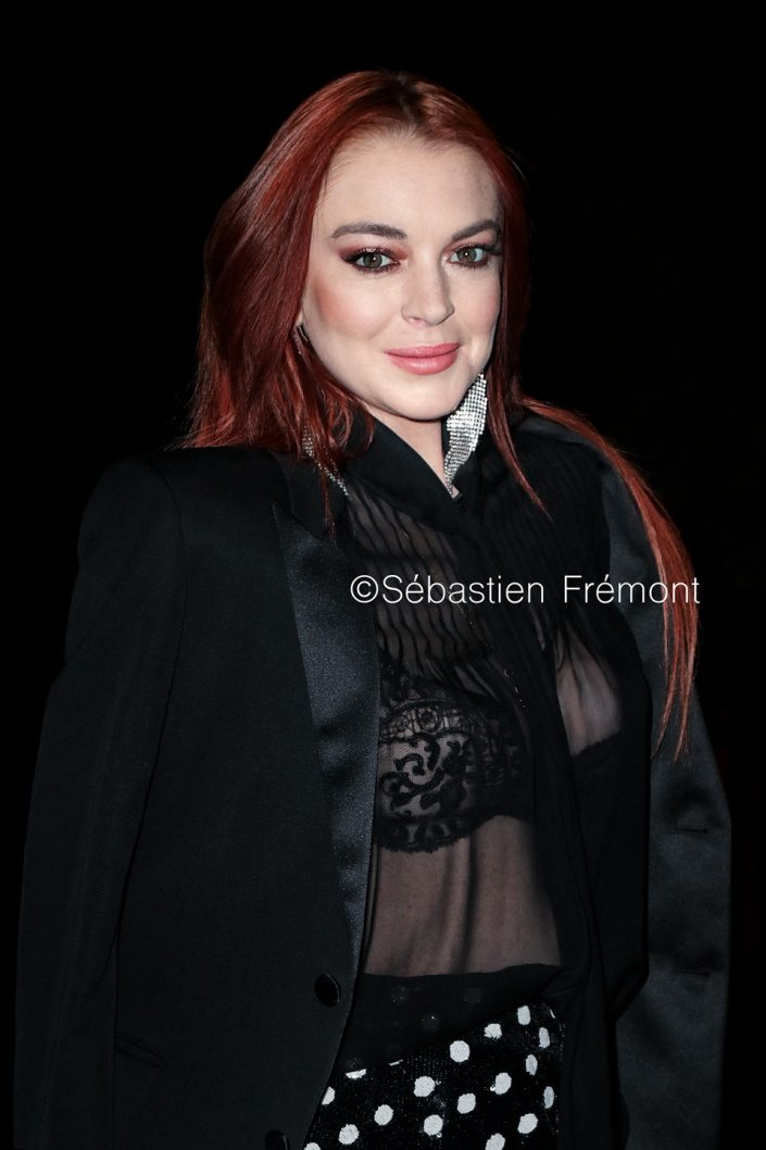 French Photographer Portrait Photography Lindsay Lohan / Yves Saint Laurent