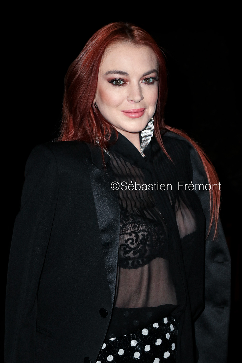 French Photographer Portrait Photography Lindsay Lohan / Yves Saint Laurent