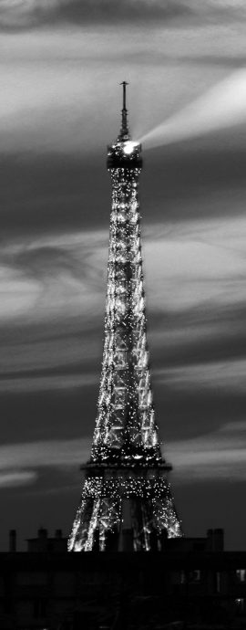 French Photographer Paris France Landscape Photography Eiffel Tower Light Show Black and White