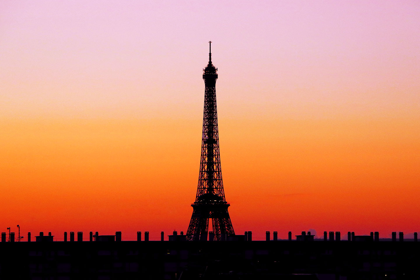 French Photographer Paris France Landscape Photography Sunset at Eiffel Tower