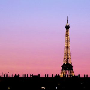 French Photographer Paris France Landscape Photography Pink Sunset at Eiffel Tower