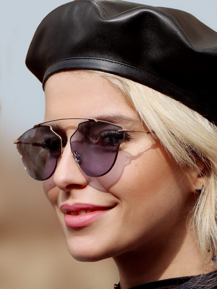 French Photographer Fashion Photography Caroline Daur with Dior sunglasses and Beret