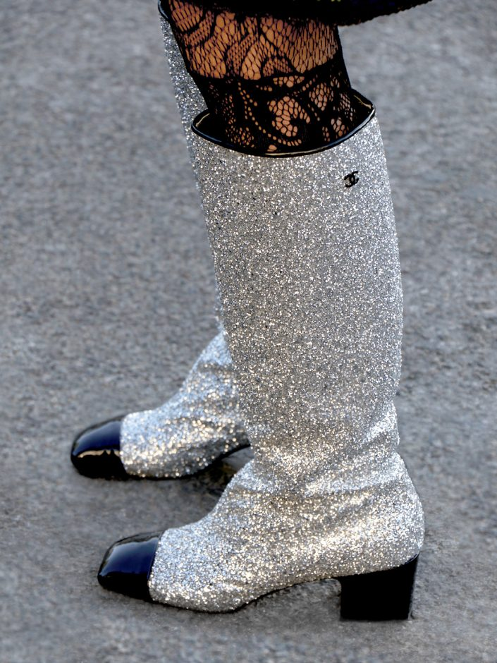 French Photographer Fashion Photography Chanel Glitter Hight Boots