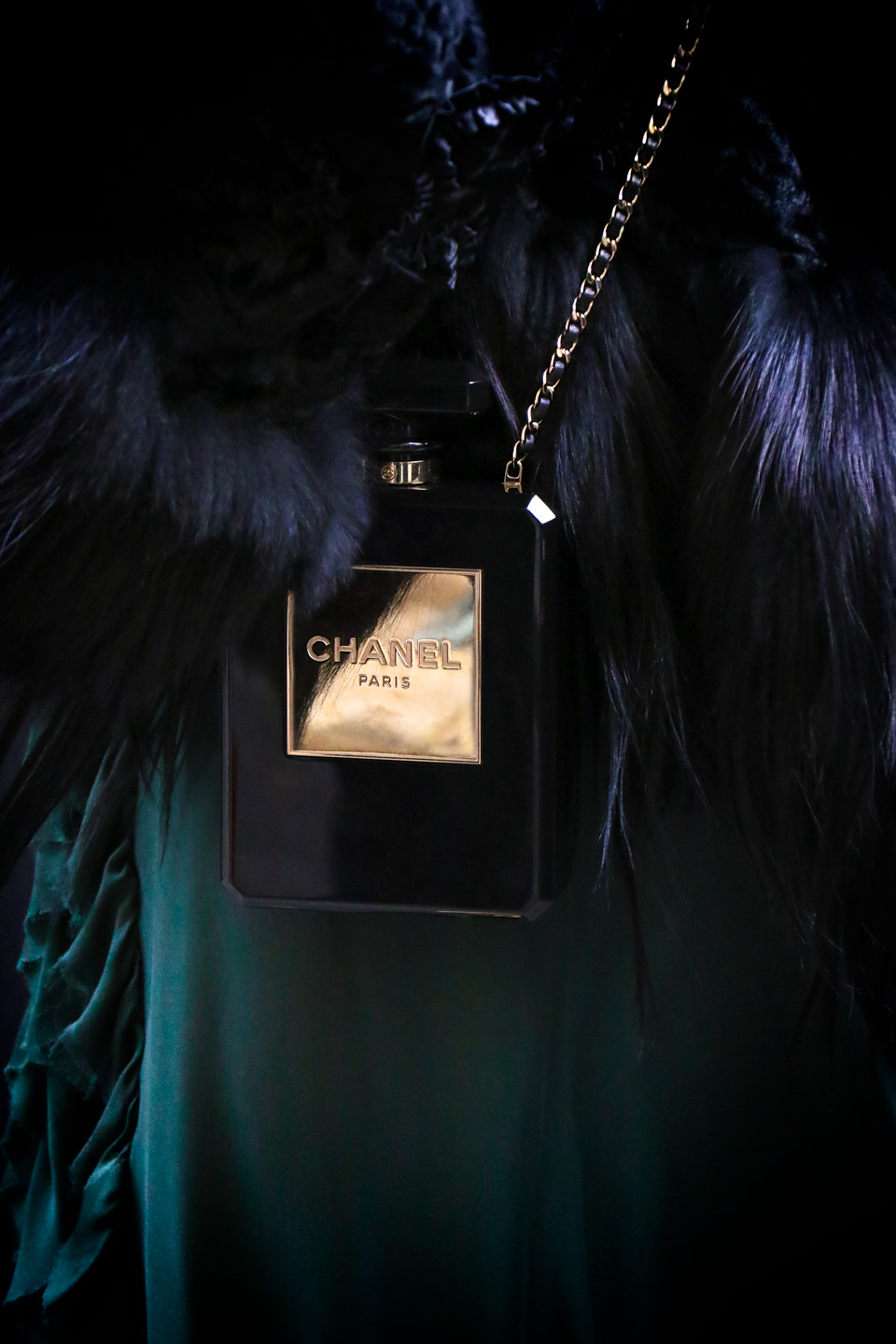 French Photographer Fashion Photography Chanel N°5 Perfume Bottle Clutch