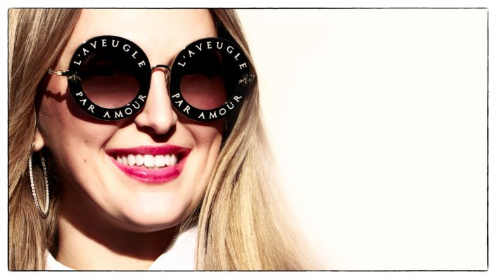 French Photographer Fashion Photography Gucci L'Aveugle Par Amour sunglasses
