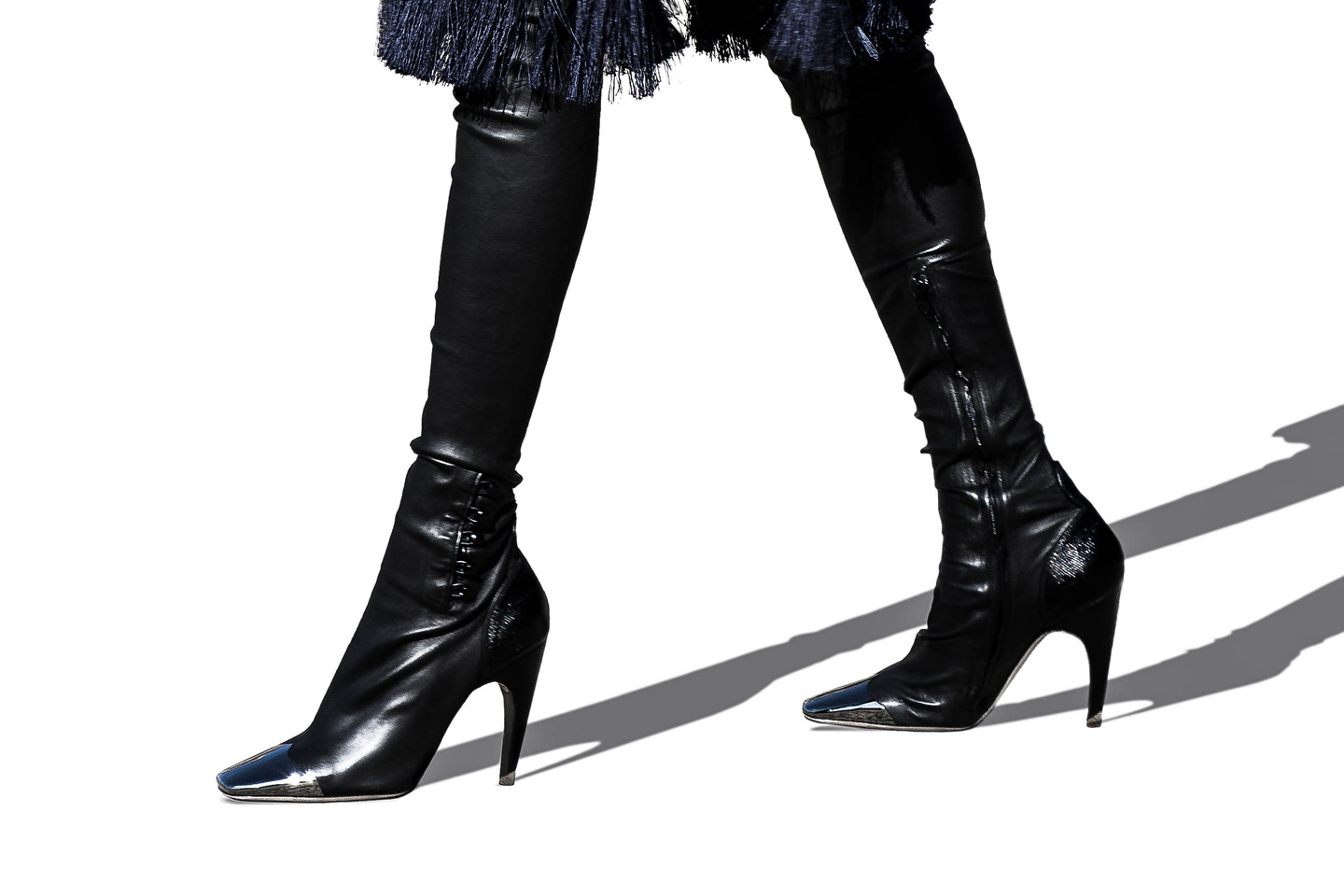 French Photographer Fashion Photography Ireneisgood wears Nina ricci Over-the-Knee Leather Boots