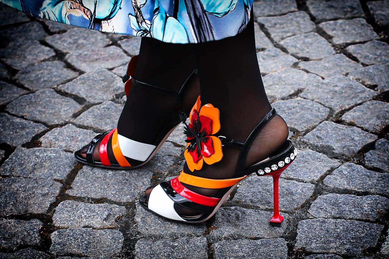 French Photographer Fashion Photography Women's Miu Miu Flower Applique Sandal