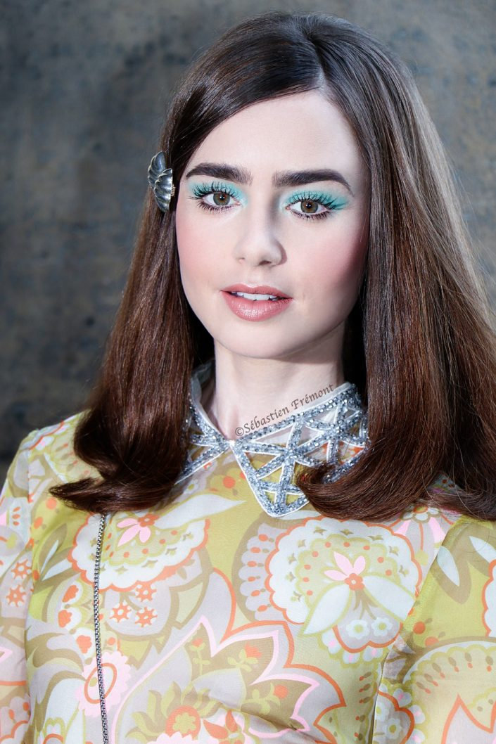 French Photographer Fashion Photography Miu Miu / Lily Collins