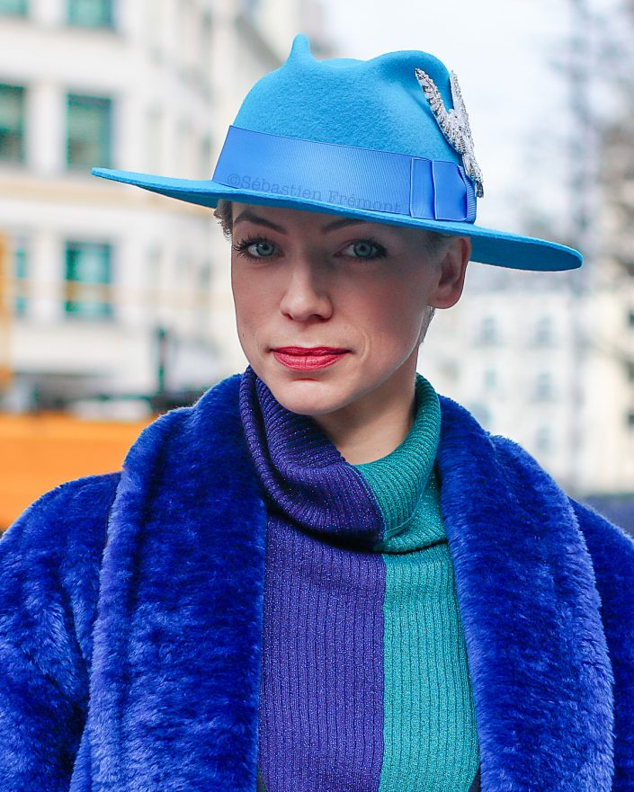 French Photographer Fashion Photography Nina Ricci / Blue Outfit