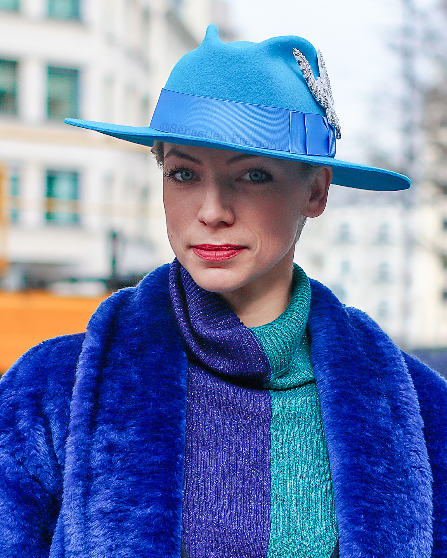 French Photographer Fashion Photography Nina Ricci / Blue Outfit