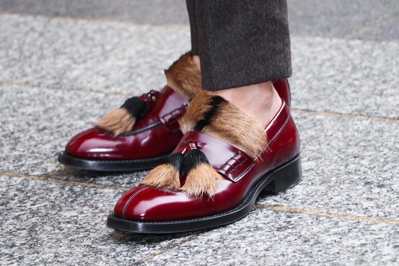 French Photographer Fashion Photography Prada Fur Embellished Leather Loafers