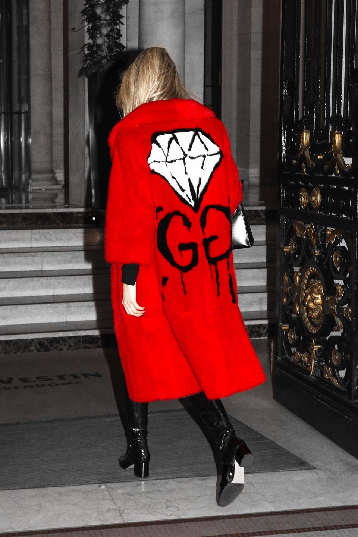 French Photographer Fashion Photography Yanina Couture / Gucci Ghost Mink Fur GG Diamond Coat