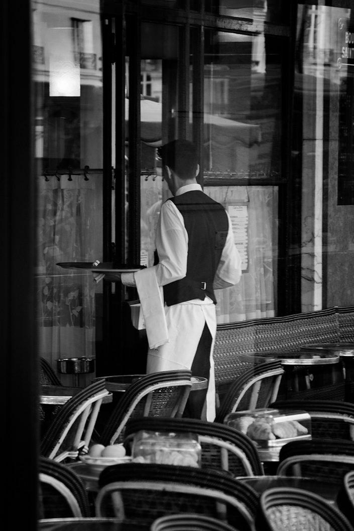 French Photographer Paris France Street Photography Café de Flore Waiter