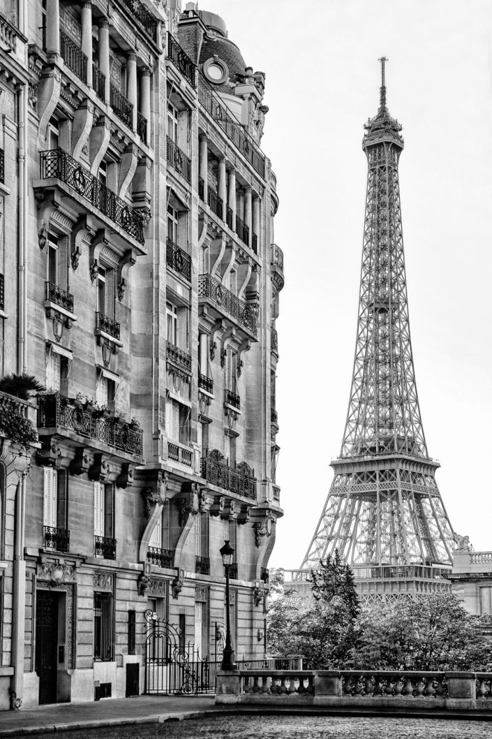 French Photographer Street Photography Eiffel tower at the end of the street