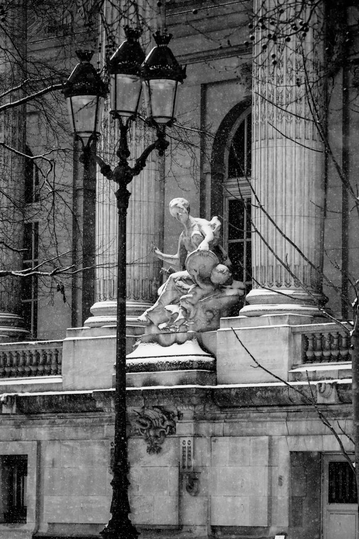 French Photographer Street Photography Snowy Grand Palais