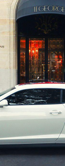 French Photographer Street Photography Four Seasons Hotel George V. Paris / Le George / Chevrolet Camaro