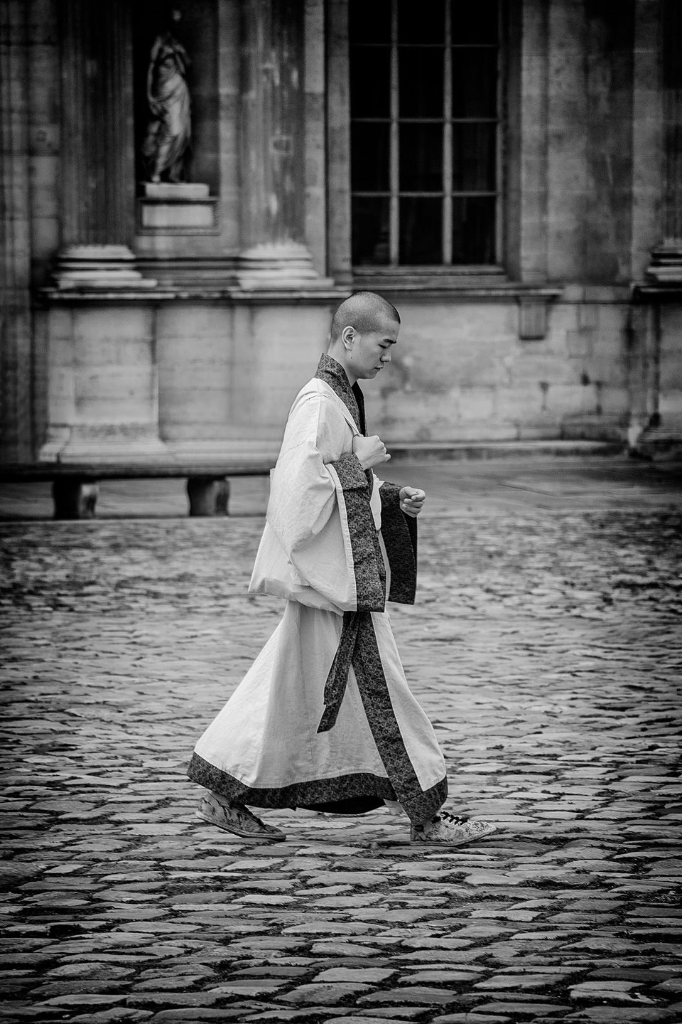French Photographer Street Photography Buddhist monk