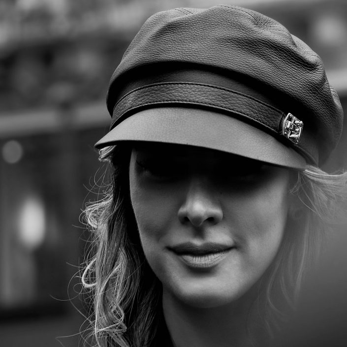 French Photographer Fashion Photography Prada Leather Cap